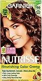 Garnier Nutrisse Nourishing Hair Color Creme, 60 Light Natural Brown (Acorn), 3 Count (Packaging May Vary)