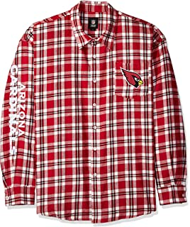 fac9cb23a Amazon.com   FOCO NFL Mens Wordmark Flannel Shirt   Sports   Outdoors