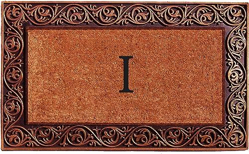 Home More 10003BRNZI Prestige Bronze Monogram Doormat Letter I