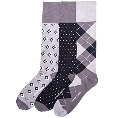 3-Pairs Mens Noble Mount Combed Cotton Dress Socks - Set C10 at Amazon Men's Clothing store