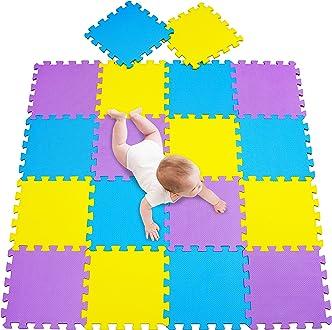 esteras de 30x30 cm MSHEN Alfombra Puzzle para Ni/ños Bebe Infantil 18 Piezas en Espuma EVA a/ños Alfombra puzle Goma Espuma Azul Rojo 0709