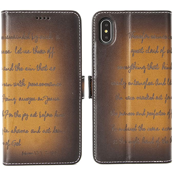 iphone xs max real leather case