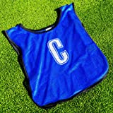 Netball Bibs [All Positions] - 7 Pack Of Light, Breathable Bibs For All Ages - Red or Blue [Net World Sports]