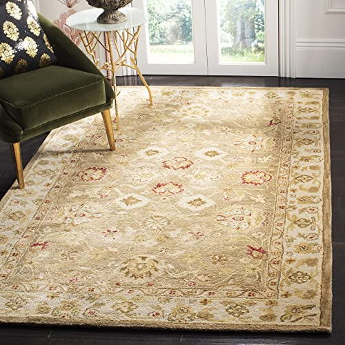 Safavieh Antiquities Collection AT822B Handmade Traditional Oriental Brown and Beige Wool Area Rug 2 3 x 4