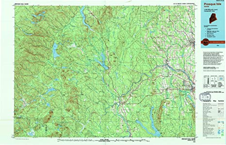 Amazon Com Yellowmaps Presque Isle Me Topo Map 1 100000 Scale 30