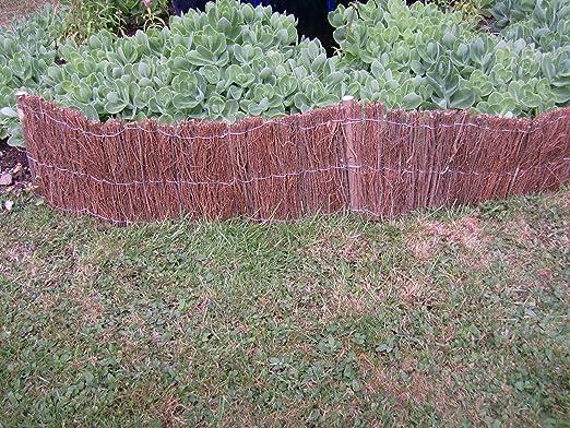 2 unidades de Nueva frontera leña obstáculo para jardín valla ...