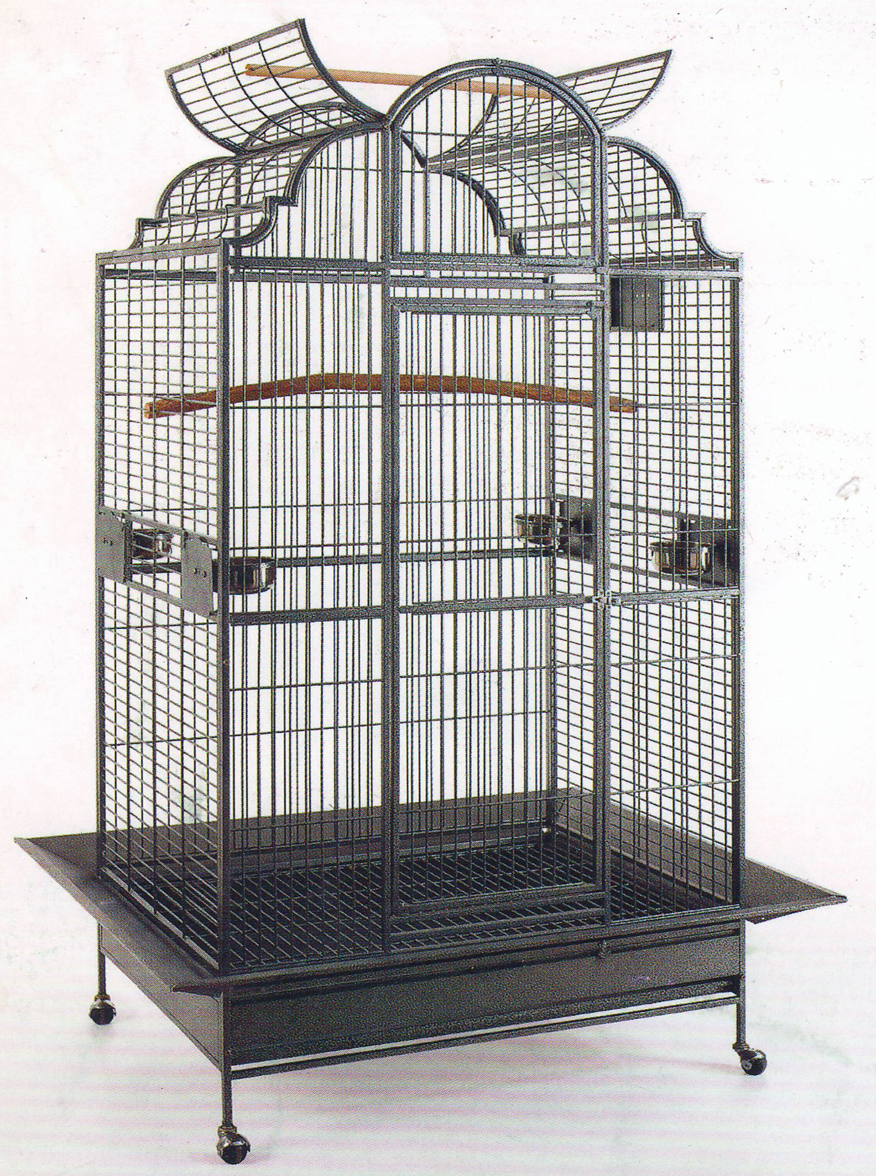 New Extra Large Castle Open Dome PlayTop Parrot Cage - 32'' W x 23'' L x 69'' H for Large Bird Macaws Cockatoos African Grey Amazon by Mcage