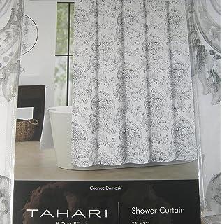 Amazon.com: Shower Curtain Fabric Tahari Home Large Medallion ...