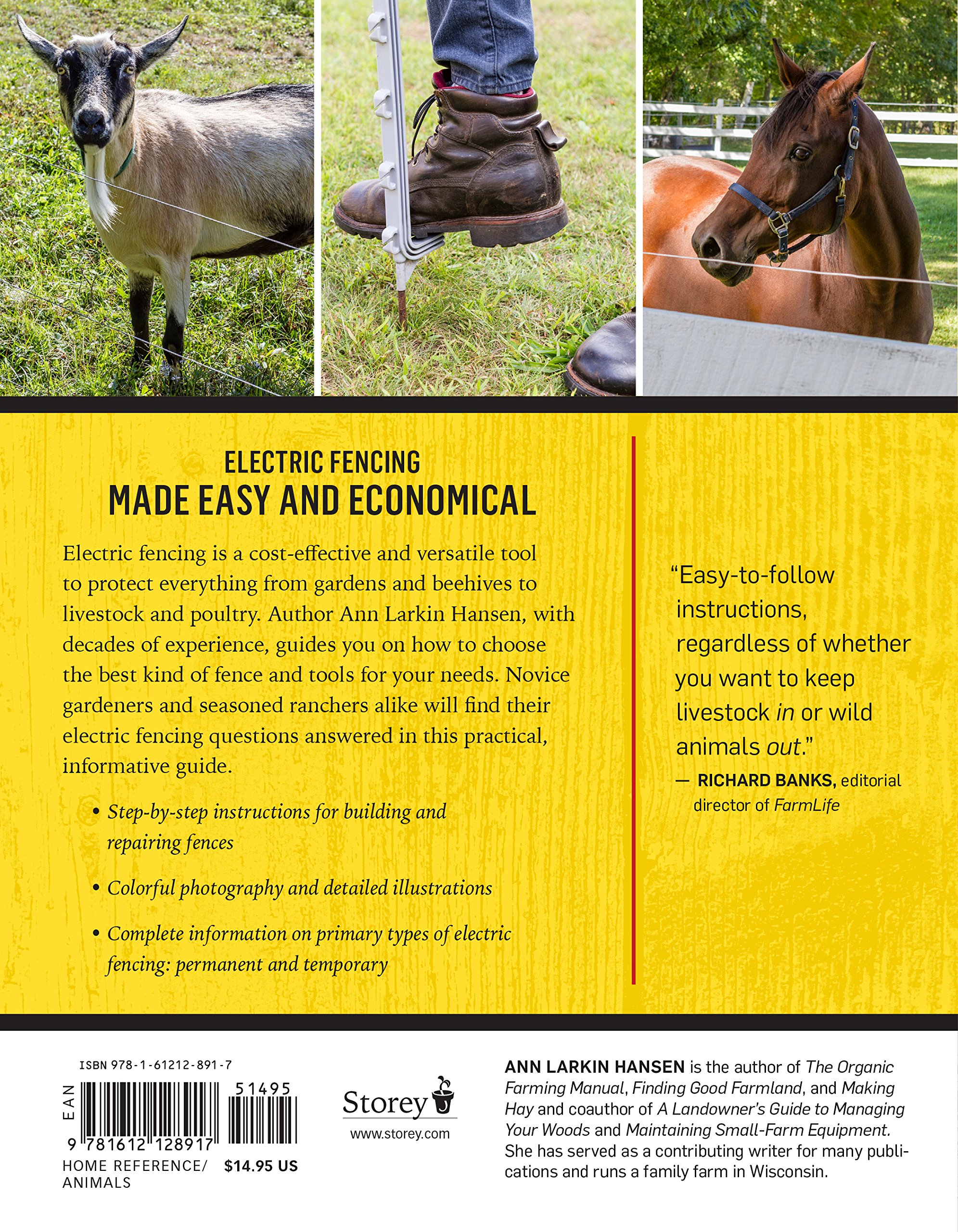 The Electric Fencing Handbook How To Choose And Install Best Fence Wiring Diagram Collection Protect Your Crops Livestock Ann Larkin Hansen 9781612128917