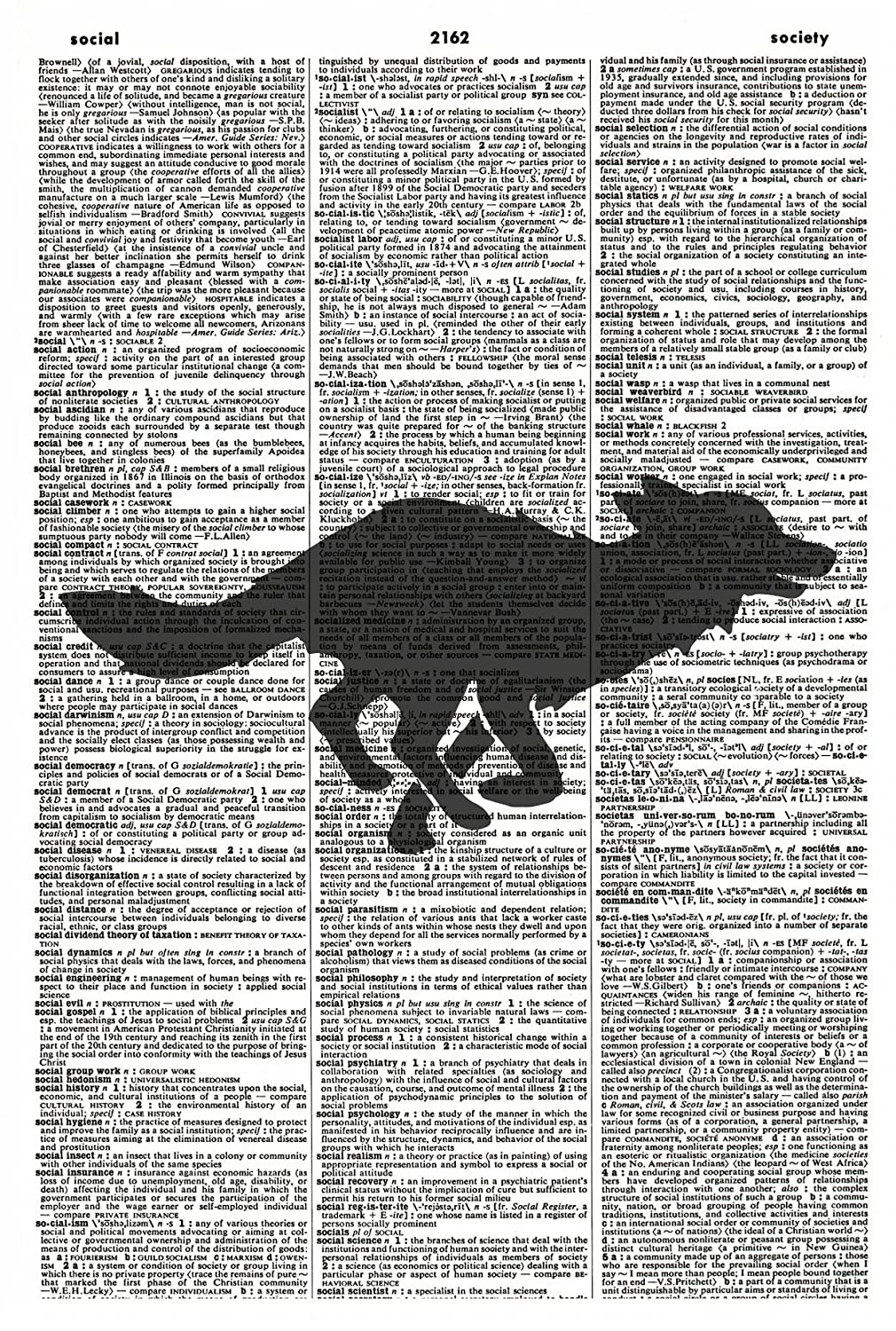 Running Fox Wall Art Print - Fox Silhouette Art Print - Vintage Art Print - Woodland Animal Illustration - Wildlife Picture - Vintage Dictionary Art Print - Book Print 1173D