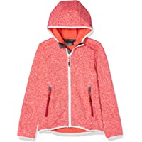 CMP Knit Tech Mélange Fleece Jacket with Hood Chaqueta, Chica