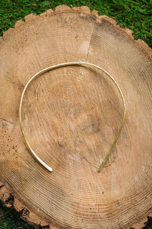 Texture Chain Choker Handcrafted Brass Choker