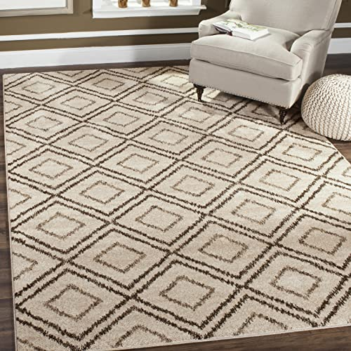 Safavieh Tunisia Collection and Brown Area Rug, 9 x 12 , Cr me