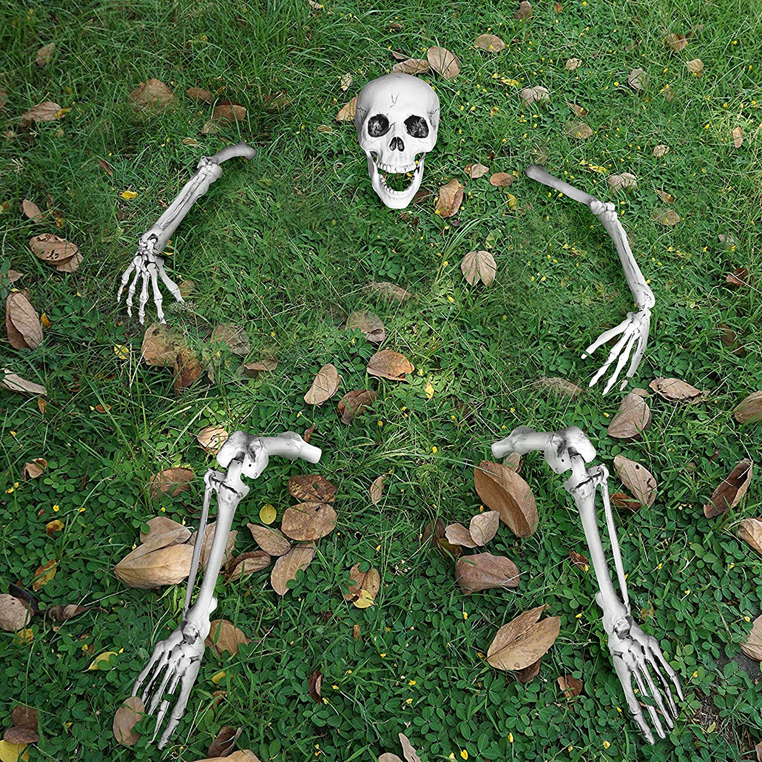 JOYIN Life Size Groundbreaker Skeleton Stakes for Halloween Yard Decorations