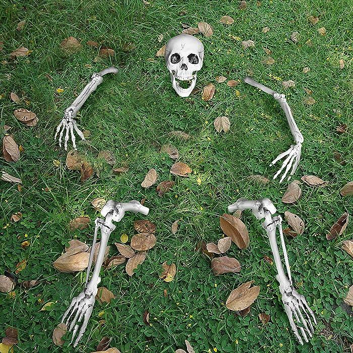 JOYIN Life Size Groundbreaker Skeleton Stakes for Halloween Yard Decorations