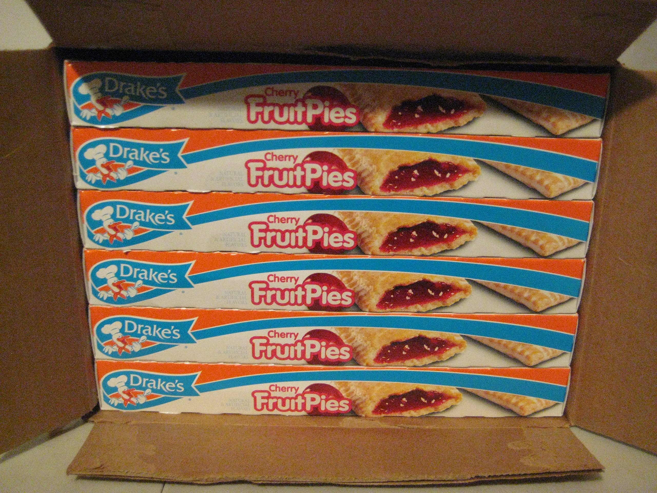 Drake's Cherry Fruit Pies By the Case! 12 Boxes of Your Favorite Cherry Pie!