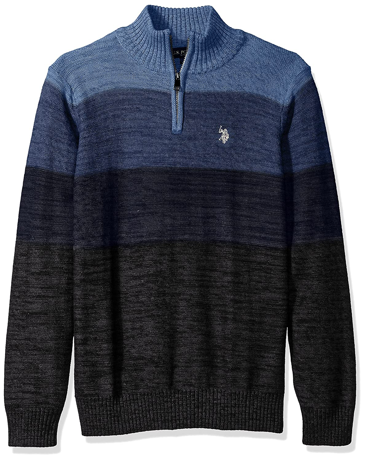 U.S. Polo Assn. Men's Reverse Jersey Mechanical Marl Sweater, ACUF7S5851