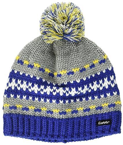 Eisbär Montel Enfant Bonnet Pompon S Blau Graumele Gelb White ... 3909f27dfb5