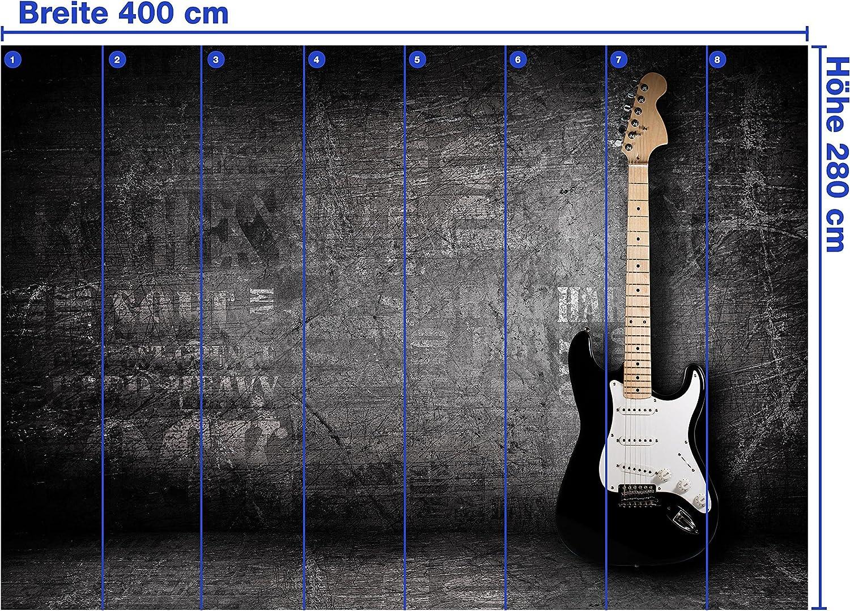 wandmotiv24 Papel pintado no tejido Guitarra eléctrica Größe: 400 ...