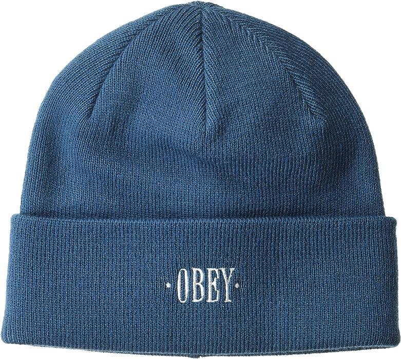 Obey da uomo Cappello invernale - blu -  Amazon.it  Abbigliamento ba2ea9b04c79