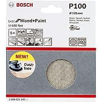 Bosch 2608621145-000, Disco Lixa Boschnet GR100-5X, Branco, 125 mm