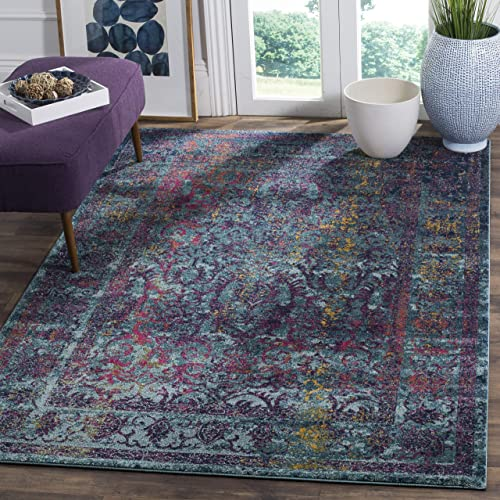 Safavieh Granada Collection GRA351C Blue and Multi Area Rug