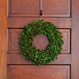 PINE AND PAINT LLC Preserved Boxwood Wreath 16 Inches