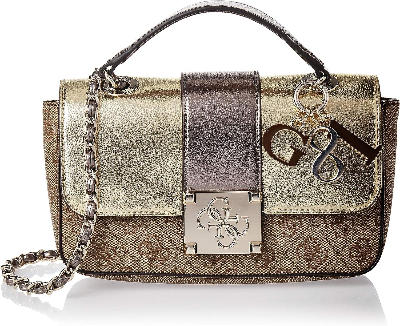 Friska piedestal svälja  Guess Women's Logo City Small Convertible Crossbody Handbag (Gold ...