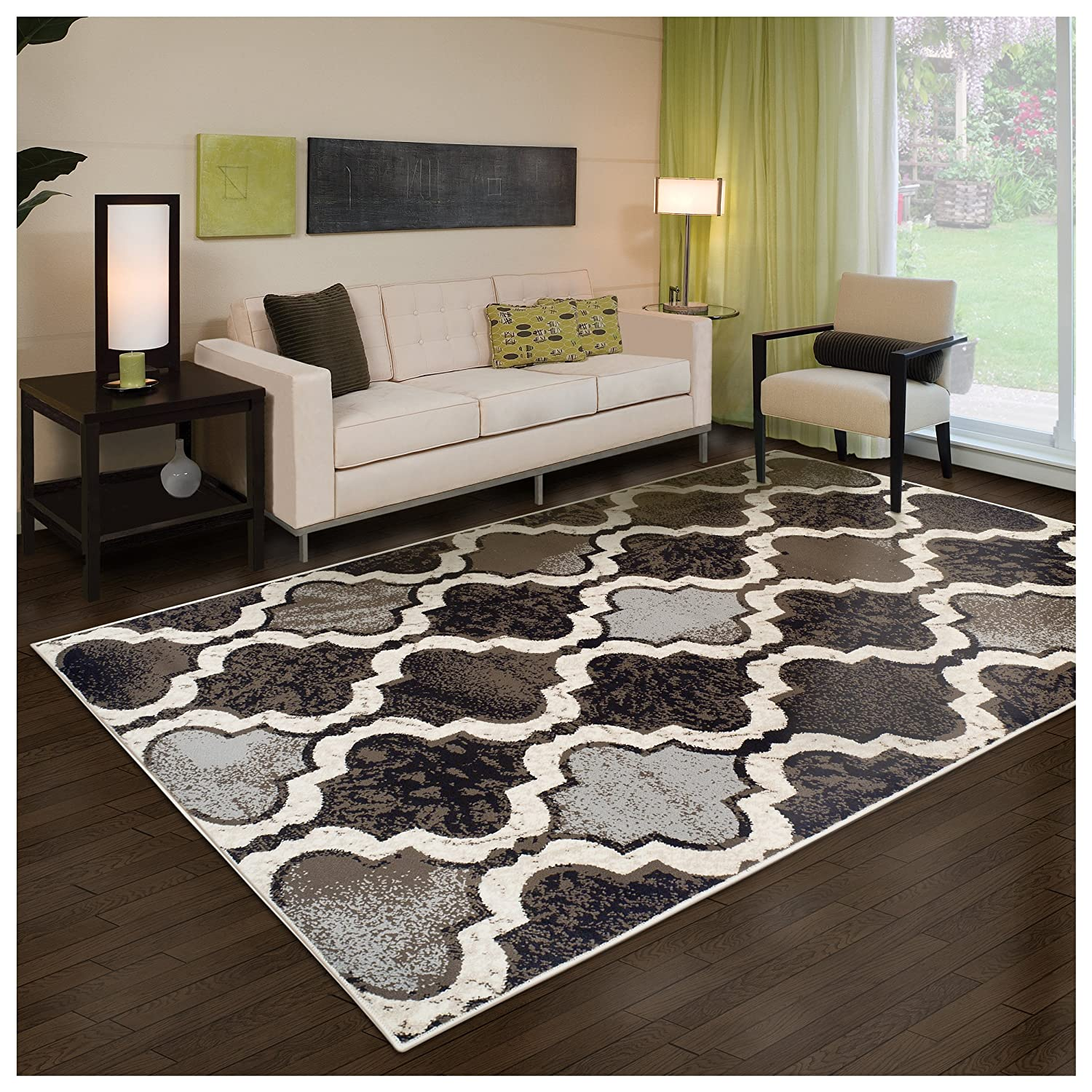 Superior Modern Viking Collection Area Rug, 8mm Pile Height with Jute Backing