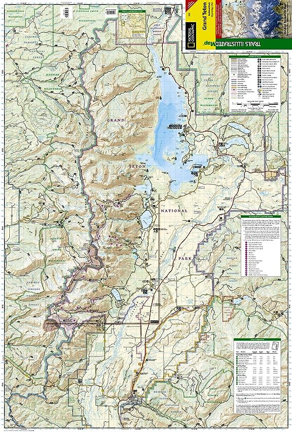 Amazoncom Grand Teton National Park National Geographic Trails - Trails illustrated maps
