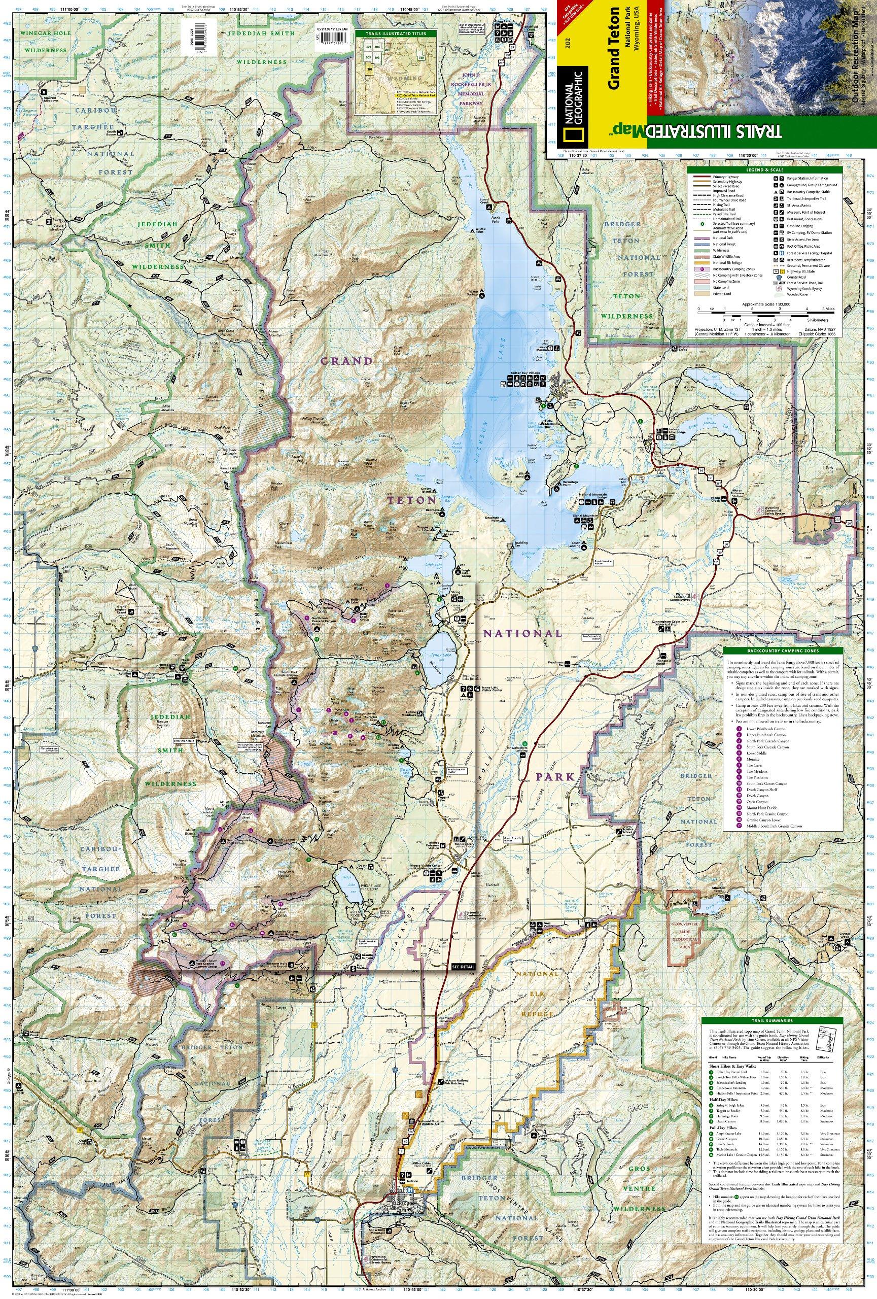 Grand Teton National Park National Geographic Trails Ilrated Map National Geographic Maps Trails Ilrated 9781566954372 Amazon Com Books