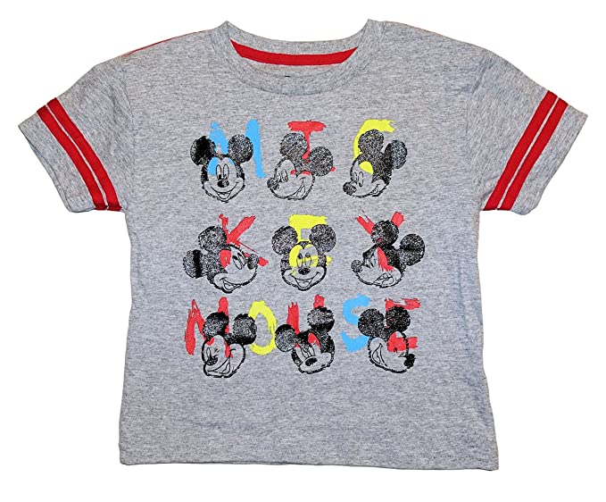 5e2f0f8d Disney Mickey Mouse Toddler Boys Many Faces Of Mickey Shirt (3T). Roll over  image to ...