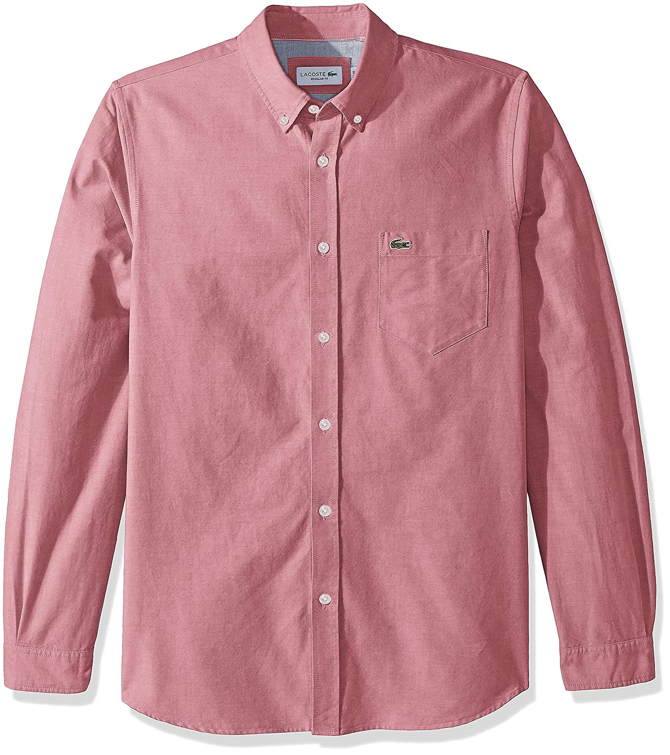 a4ef516000d2 Lacoste Men s Long Sleeve Oxford Button Down Collar Regular Fit Woven Shirt