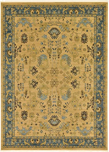 Unique Loom Edinburgh Collection Oriental Traditional French Country Tan Area Rug 8 0 x 11 0