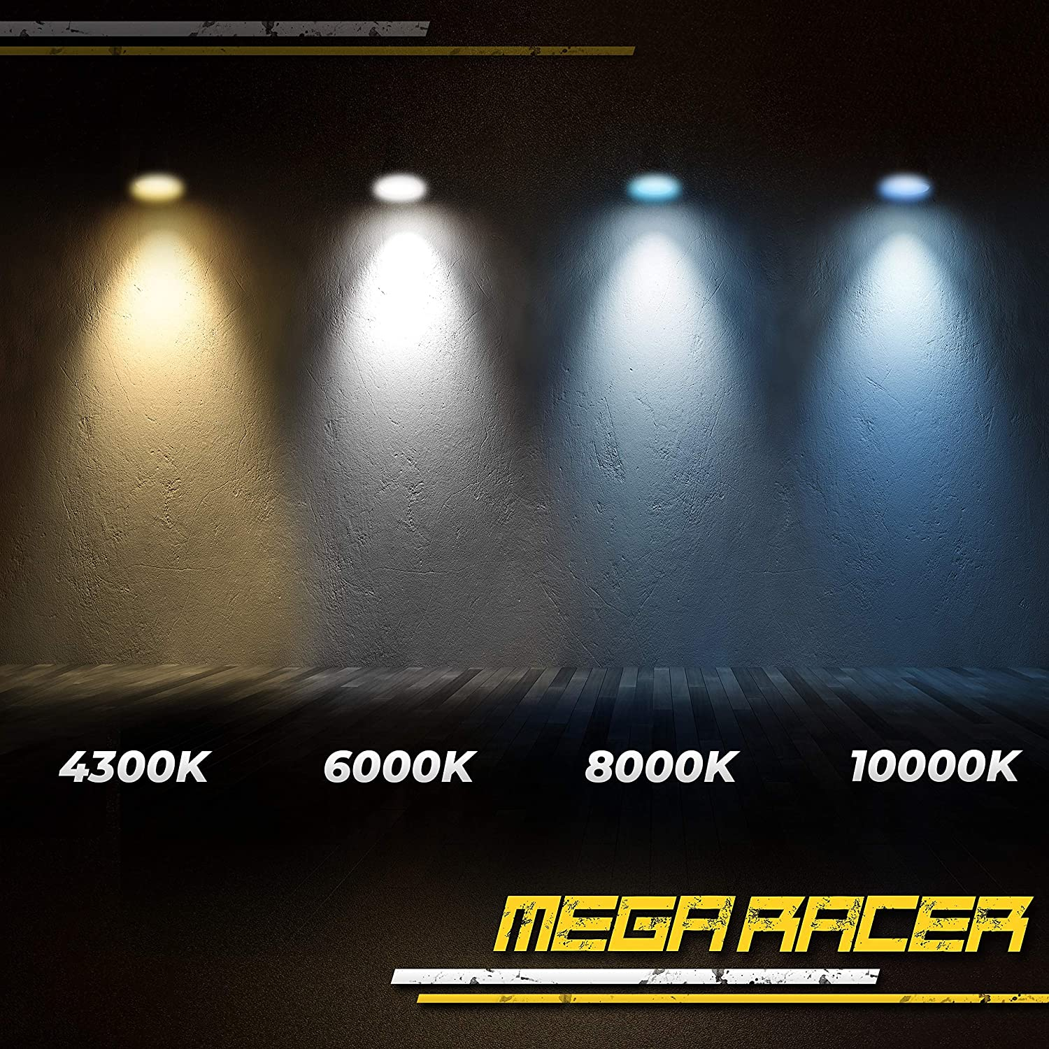 Mega Racer D3S HID Bulb 6000K D3R D3C Bright White 12V Metal Stents Xenon HID Headlights Replacement Headlight Bulb Xenon Light Bulbs 42403 66340 HID Lights D3S Headlight Bulb HID Light Bulbs