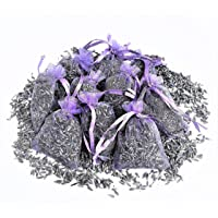 12 Bags of Dried English Lavender in Small Lilac Organza Bags -Real Flower Wedding Confetti/Home Fragrance/Crafts /Moth Repellant