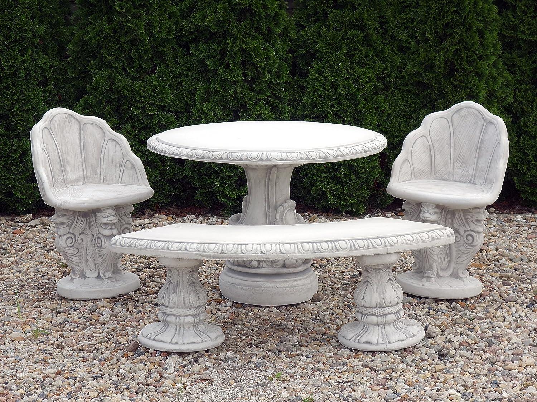 Große wunderschöne Sitzgruppe Gartenmöbel aus Steinguss, frostfest