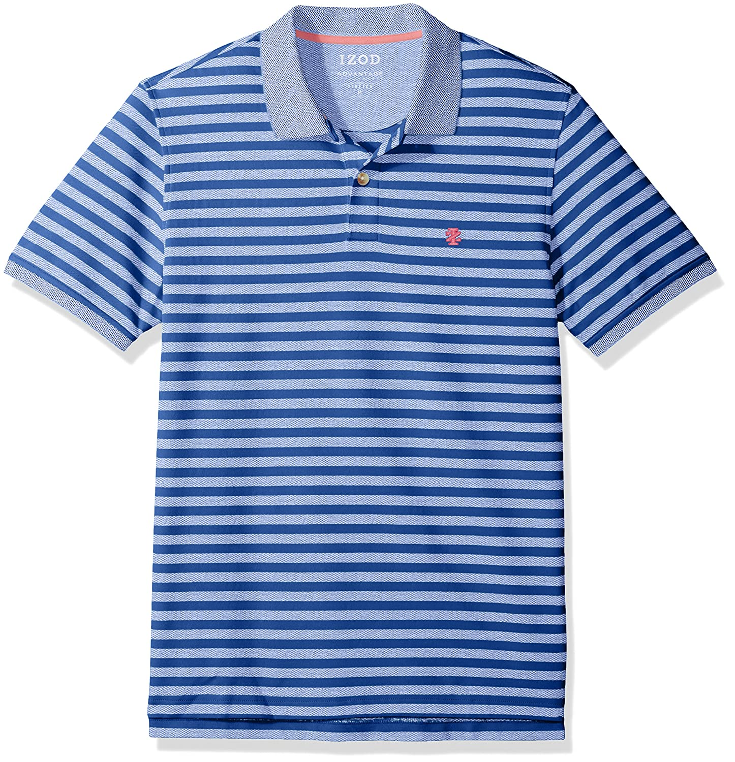 Izod Men's Short Sleeve Advantage Awning Stripe Polo 45SK186