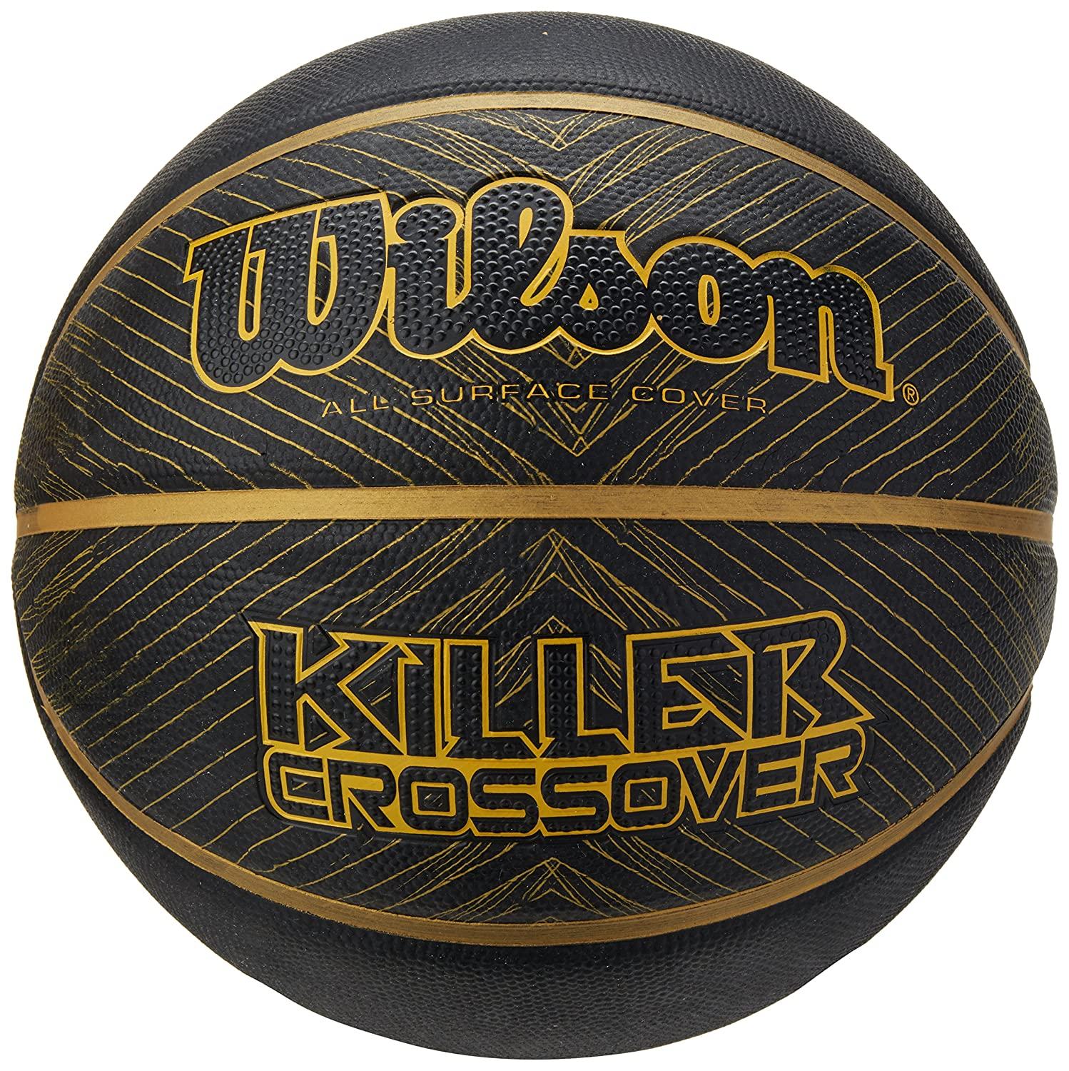 Wilson Killer Crossover Sponge Basketball Noir/Or Official WIMQG|#Wilson Team Sport WTB0977XB21