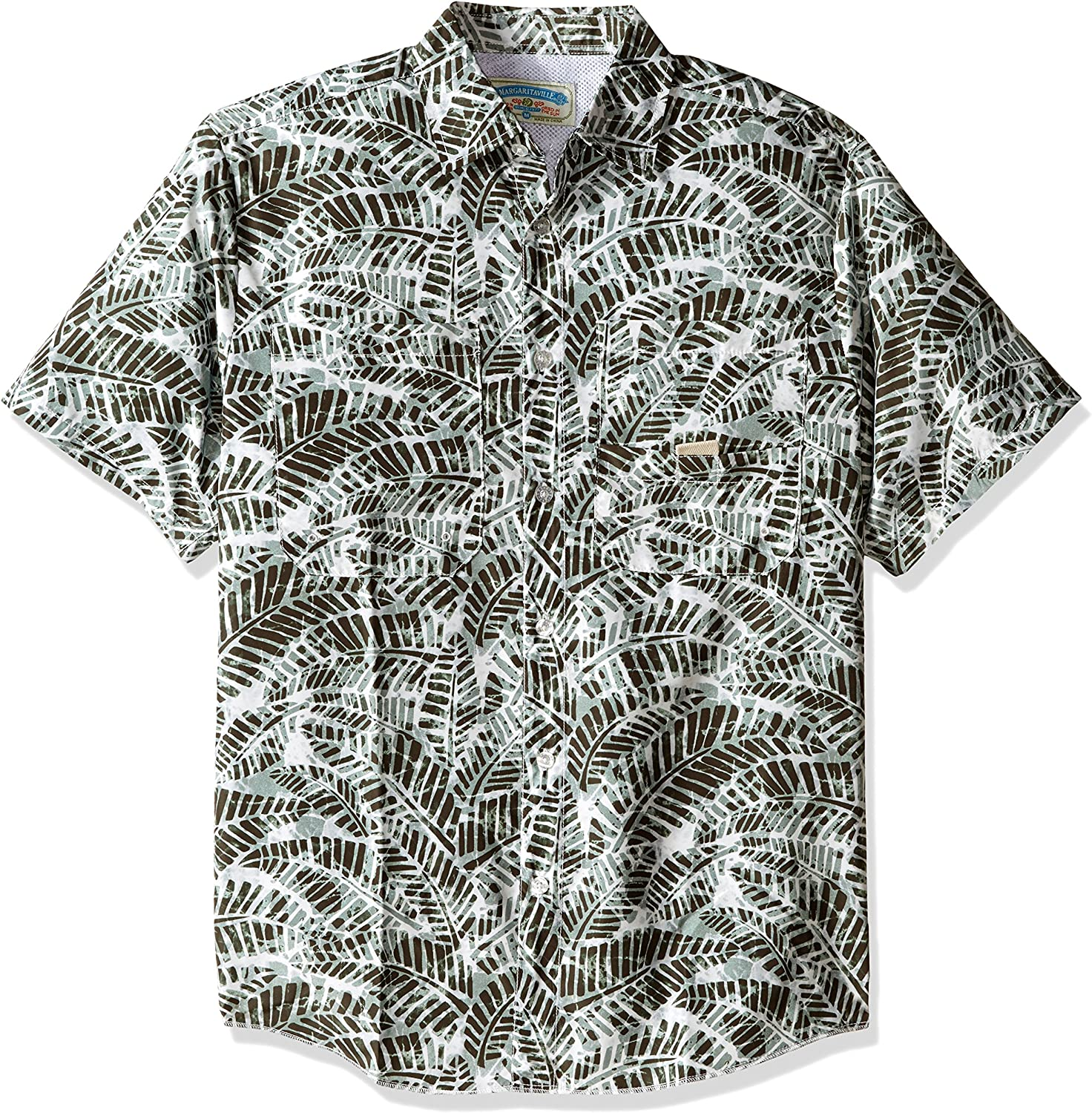 Margaritaville Mens Relaxed-Fit Short Sleeve Fishing Shirt