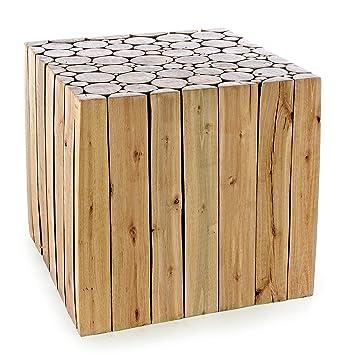 BIZZOTTO Kamal Beistelltisch, Holz, Braun, 40 x 40 x 40 cm: Amazon ...