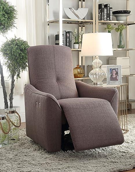 Amazon.com: Acme muebles Agico Potencia reclinable, Metal ...
