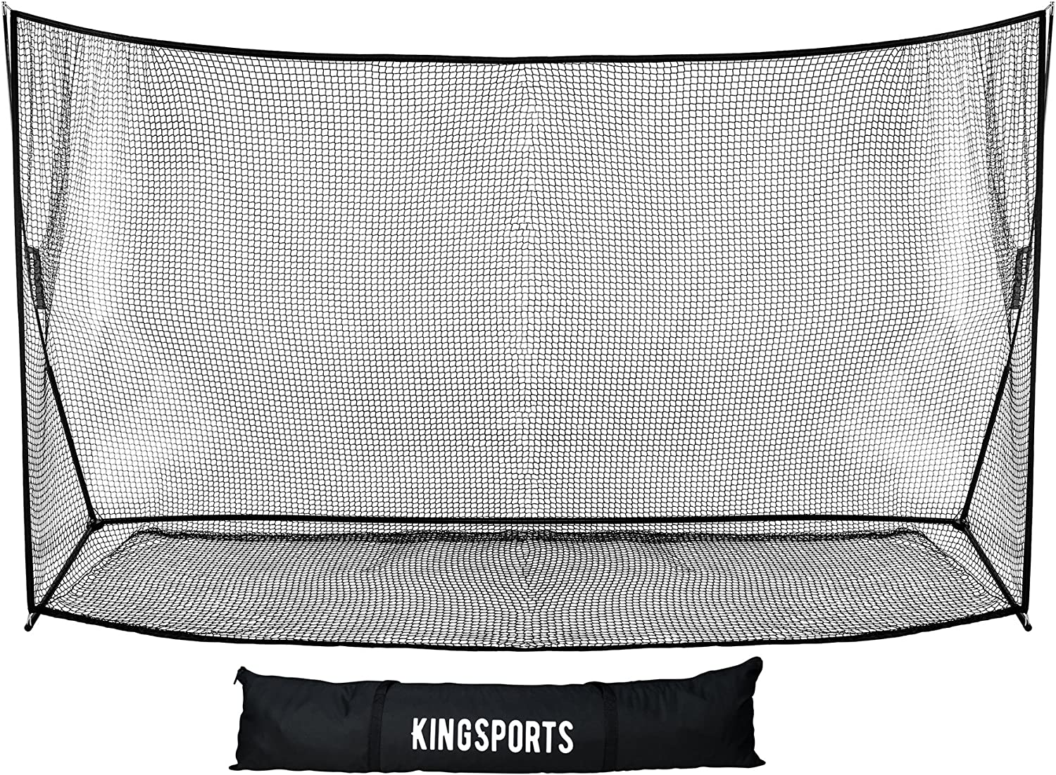 KingSports Large Golf Practice Training Net – Portable Golf Net for Indoor and Outdoor Use – 10 x 7 ft