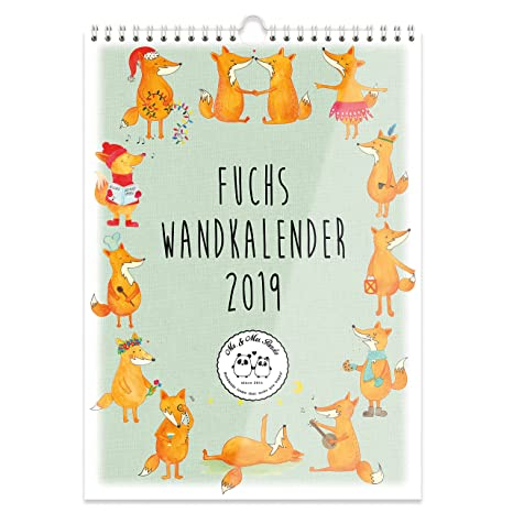 Mr. & Mrs. Panda A4 - Calendario de pared 2019 zorro ...