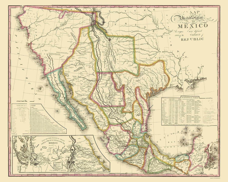 Amazon.com: United States of Mexico - Tanner 1826-23 x 28.84 ...