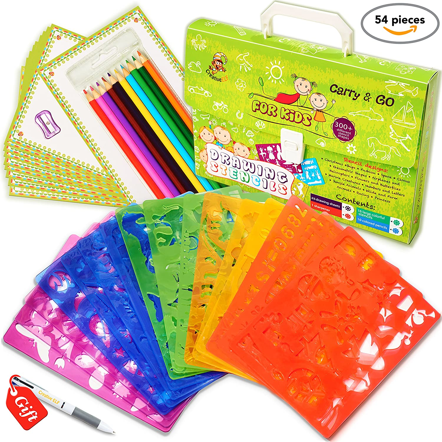 Drawing stencil set for kids