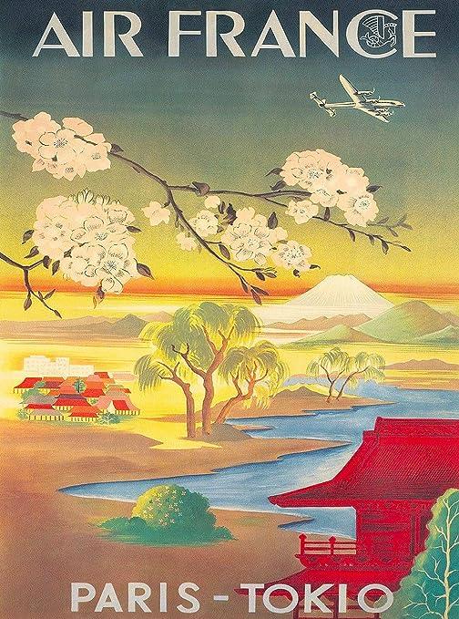 Japan Tokyo vintage travel poster