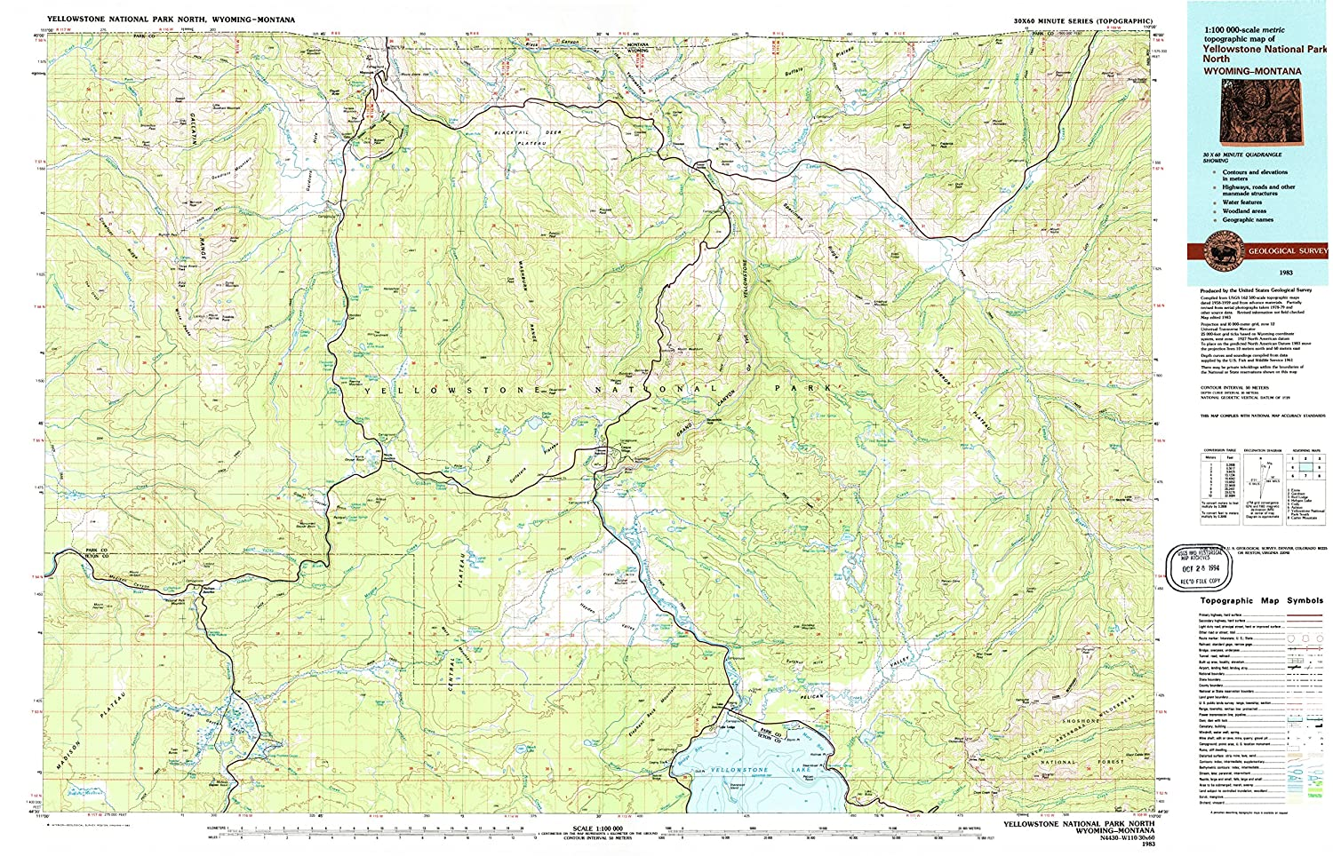 Amazon Com Yellowstone National Park North Wy Topo Map 1