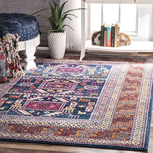 nuLOOM Marisela Tribal Area Rug, 3 x 5 , Navy