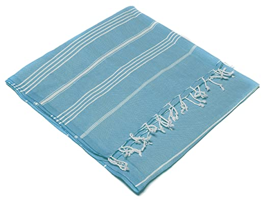 29 opinioni per Turkish Emporium Striped 100% Organic Cotton Hand Loomed Bath Towel Hammam Fouta